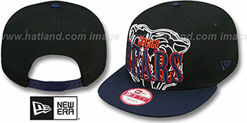 Bears THROUGH SNAPBACK Black-Navy Hat by New Era