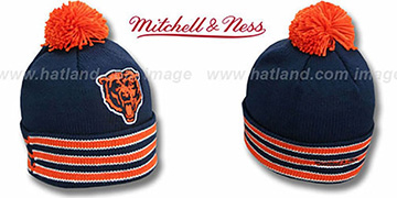 Bears XL-LOGO BEANIE-2 Navy by Mitchell and Ness