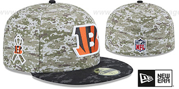 Bengals '2015 SALUTE-TO-SERVICE' Desert-Black Fitted Hat by New Era