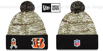 Bengals 2015 SALUTE-TO-SERVICE Knit Beanie Hat by New Era