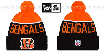 Bengals 2015 STADIUM Black-Orange Knit Beanie Hat by New Era