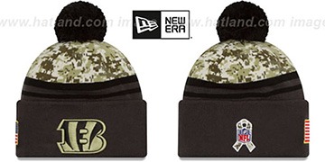 Bengals 2016 SALUTE-TO-SERVICE Knit Beanie Hat by New Era
