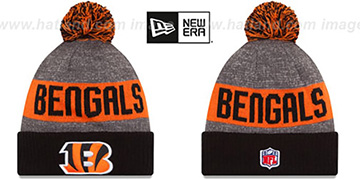 Bengals 2016 STADIUM Black-Orange-Grey Knit Beanie Hat by New Era