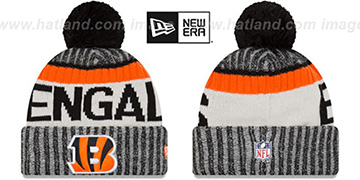 Bengals 2017 STADIUM BEANIE Black Knit Hat by New Era