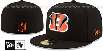 Bengals BEVEL Black Fitted Hat by New Era