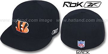 Bengals COACHES Black Fitted Hat by Reebok
