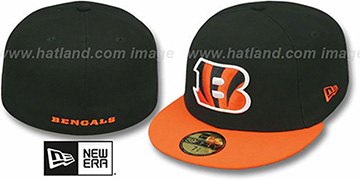 Bengals NFL 2T-TEAM-BASIC Black-Orange Fitted Hat by New Era