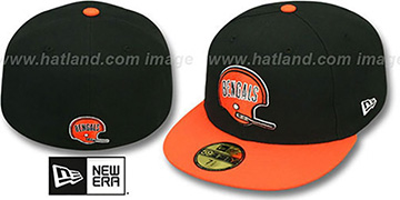 Bengals 'NFL 2T THROWBACK TEAM-BASIC' Black-Orange Fitted Hat by New Era