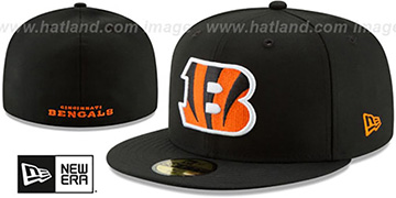 Bengals NFL TEAM-BASIC Black Fitted Hat by New Era