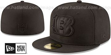 Bengals NFL TEAM-BASIC BLACKOUT Fitted Hat by New Era