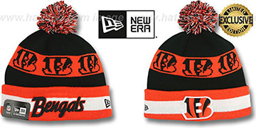 Bengals REPEATER SCRIPT Knit Beanie Hat by New Era