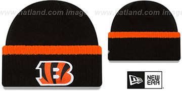 Bengals RIBBED-UP Black Knit Beanie Hat by New Era