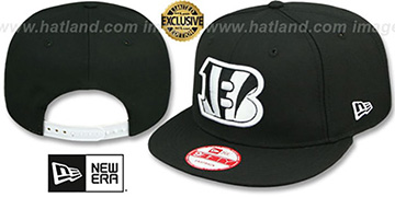 Bengals 'TEAM-BASIC SNAPBACK' Black-White Hat by New Era