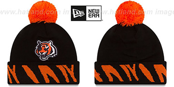 Bengals TEAM-RELATION Black-Orange Knit Beanie by New Era