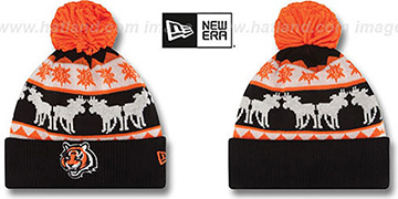 Bengals THE-MOOSER Knit Beanie Hat by New Era