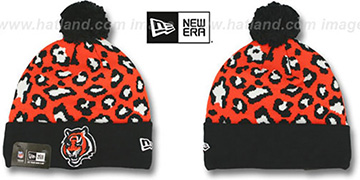 Bengals 'WINTER-JUNGLE' Knit Beanie Hat by New Era