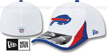 Bills '2013 NFL TRAINING FLEX' White Hat by New Era