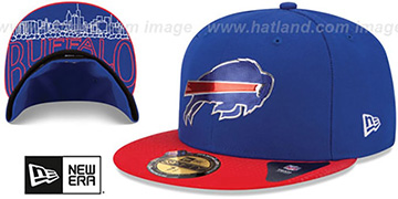 Bills '2015 NFL DRAFT' Royal-Red Fitted Hat by New Era