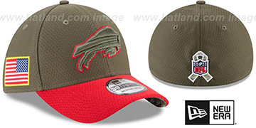 Bills 2017 SALUTE-TO-SERVICE FLEX Green-Red Hat by New Era