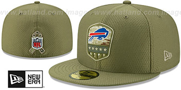 Bills 2019 SALUTE-TO-SERVICE Olive Fitted Hat by New Era