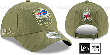 Bills 2019 SALUTE-TO-SERVICE STRAPBACK Olive Hat by New Era