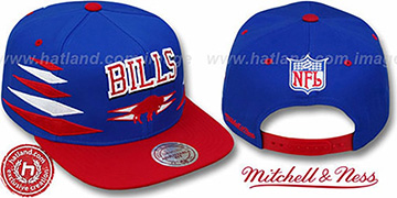 Bills '2T DIAMONDS SNAPBACK' Royal-Red Adjustable Hat by Mitchell & Ness