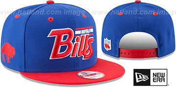 Bills '2T RETRO-SCRIPT SNAPBACK' Royal-Red Hat by New Era