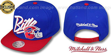 Bills '2T VICE SNAPBACK' Royal-Red Adjustable Hat by Mitchell & Ness