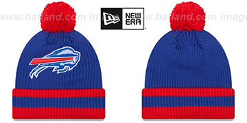 Bills 'CHILLER FILLER BEANIE' Royal-Red by New Era