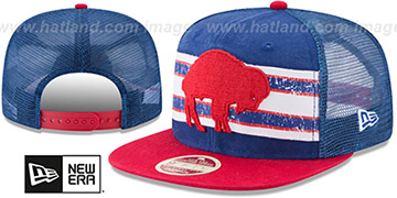 Bills HERITAGE-STRIPE SNAPBACK Royal-Red Hat by New Era
