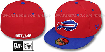 Bills NFL 2T-TEAM-BASIC Red-Royal Fitted Hat by New Era
