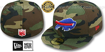 Bills 'NFL TEAM-BASIC' Army Camo Fitted Hat by New Era