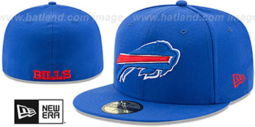 Bills NFL TEAM-BASIC Royal Fitted Hat by New Era