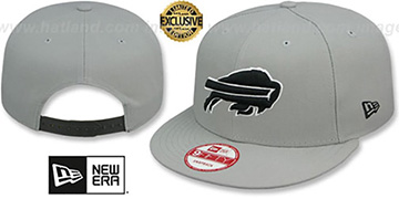 Bills NFL TEAM-BASIC SNAPBACK Grey-Black Hat by New Era