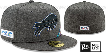 Bills 'ONFIELD CRUCIAL CATCH' Grey Fitted Hat by New Era