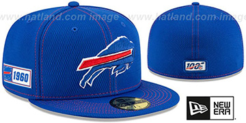 Bills ONFIELD SIDELINE ROAD Royal Fitted Hat by New Era