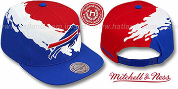 Bills 'PAINTBRUSH SNAPBACK' Red-White-Royal Hat by Mitchell and Ness