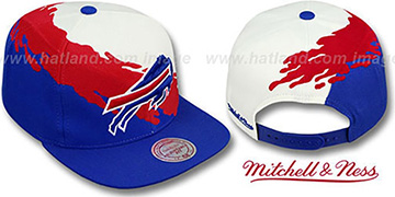 Bills PAINTBRUSH SNAPBACK White-Red-Royal Hat by Mitchell and Ness