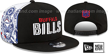 Bills 'SIDE-CARD SNAPBACK' Black Hat by New Era