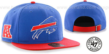 Bills SUPER-SHOT STRAPBACK Royal-Red Hat by Twins 47 Brand