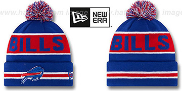 Bills 'THE-COACH' Royal Knit Beanie Hat by New Era