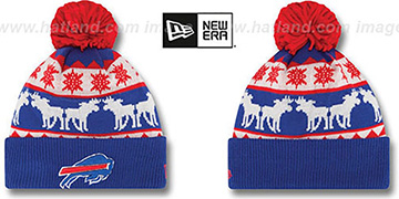 Bills 'THE-MOOSER' Knit Beanie Hat by New Era