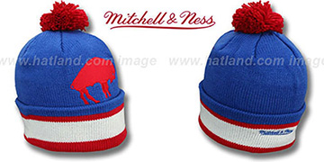 Bills XL-LOGO BEANIE Royal by Mitchell and Ness