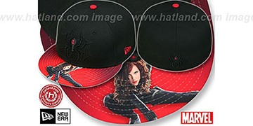 Black Widow 'HI-RES VIZA PRINT' Black Fitted Hat by New Era