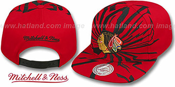 Blackhawks EARTHQUAKE SNAPBACK Red Hat by Mitchell & Ness