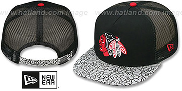 Blackhawks 'ELEPHANT-HOOK STRAPBACK' Hat by New Era