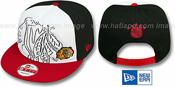 Blackhawks HW COOP 'POPLA-FOAM SNAPBACK' White-Black-Red Hat by New Era