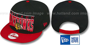 Blackhawks 'LE-ARCH SNAPBACK' Black-Red Hat by New Era