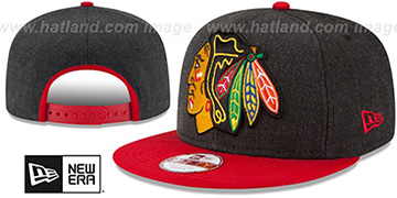 Blackhawks 'LOGO GRAND SNAPBACK' Charcoal-Red Hat by New Era