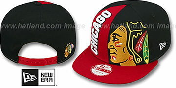 Blackhawks 'NE-NC DOUBLE COVERAGE SNAPBACK' Hat by New Era